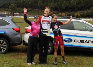 2016 Mersey Valley Tour Stage 2 - Lisen Hockings podium